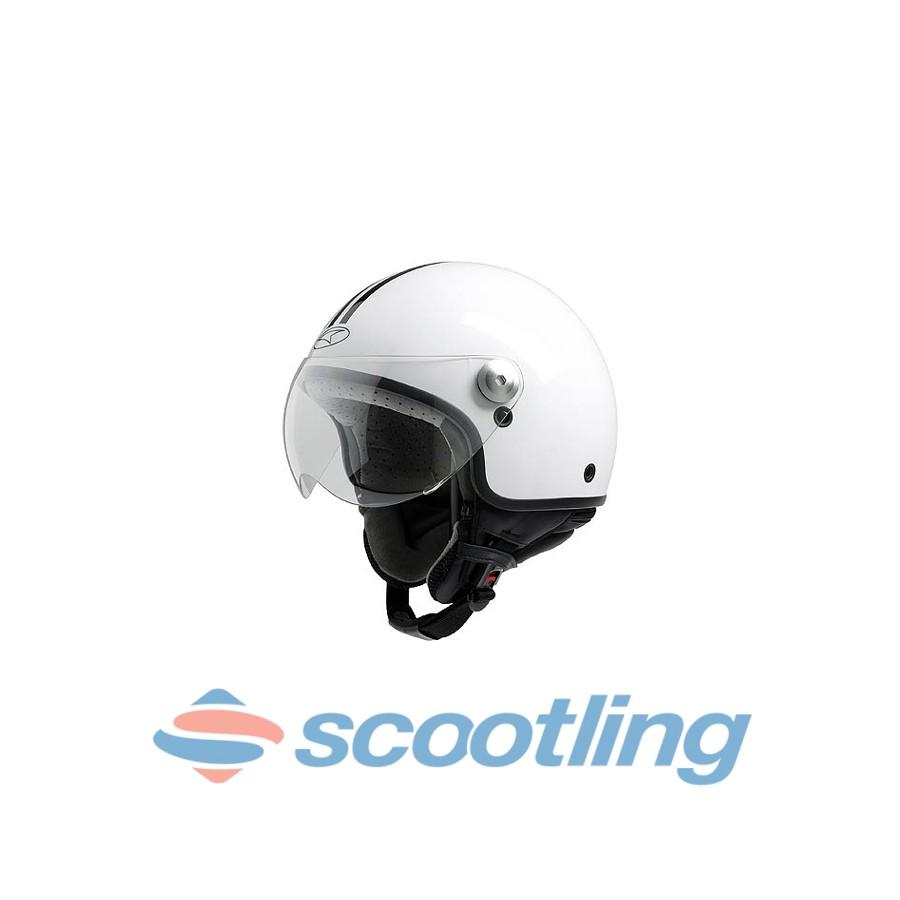 axo cheap scooter helmet matt white