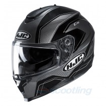 black and grey gloss full face hjc c70 helmet
