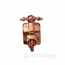 copper scooter gift brooch