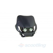 Moto-X / Motard style halogen headlight mask - black