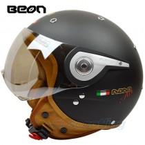 matte bronze beon nano open face helmet