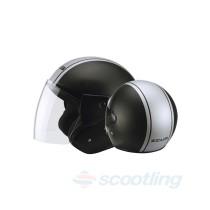 Zeus Jet style 506D helmet - black/silver