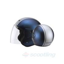 Zeus Jet style 506D helmet - blue/silver