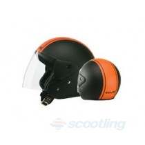 Zeus Jet style 506D helmet - orange/black