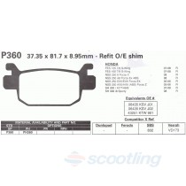 Brake pads for Honda Forza big scooter