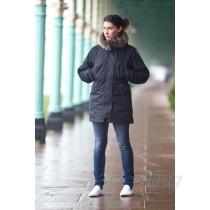 model wearing steph fur jacket