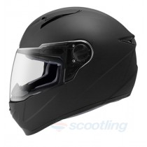 side view matte black tourpro r full face helmet