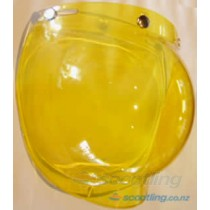 Retro bubble visor - yellow