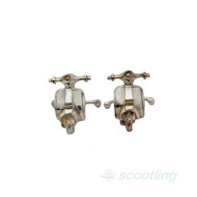 Hand crafted scooter cufflinks solid silver by Ernesto Ovalle