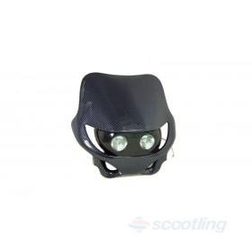 Moto-X / Motard style halogen headlight mask - carbon style