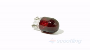 scooter motorcycle car tail bulb red filament wedge capless