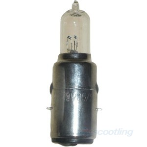 Halogen headlight bulb BA20D suit Vespa, Adly etc